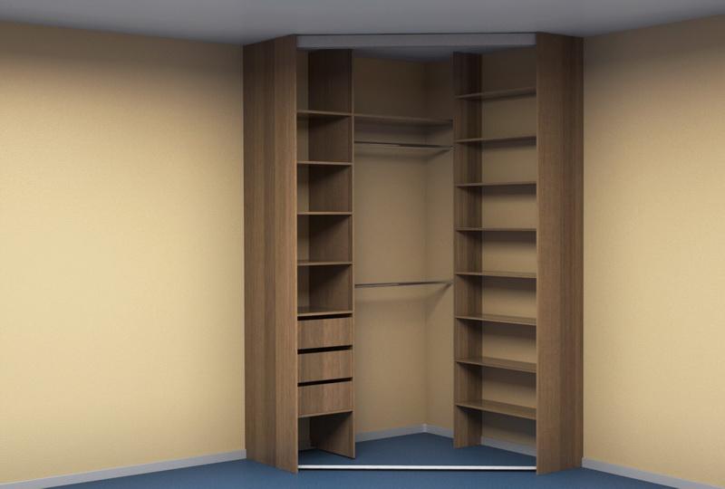 угловой шкаф купе в спальню Kupe96ru